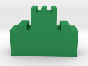 Game Piece, Great Wall Tower in Green Strong & Flexible Polished