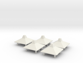 Kona Airport Hut Small - X5 in White Natural Versatile Plastic: 1:400