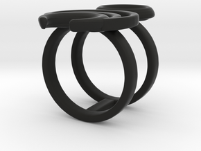 Chronos Ring in Black Strong & Flexible: 6 / 51.5