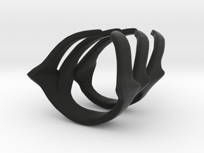 Obey Midi Ring in Black Strong & Flexible: 3 / 44