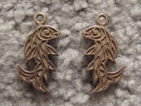 Shard Fish Earrings (inverted) in Stainless Steel