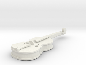 Violin in White Natural Versatile Plastic
