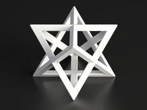 Merkaba in White Strong & Flexible Polished
