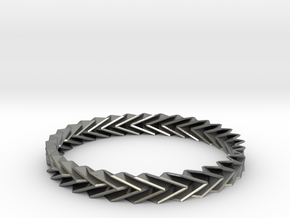 Bracelet Miura - Origami Inspired Design in Natural Silver