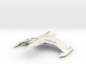 Dhael WarBird Class B   BattleCruiser in White Strong & Flexible