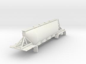 000592 Silo 40 Fus 3a Bulk Trailer HO in White Natural Versatile Plastic: 1:87 - HO