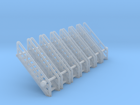 N Scale Stairs 10 (7pc) in Smooth Fine Detail Plastic