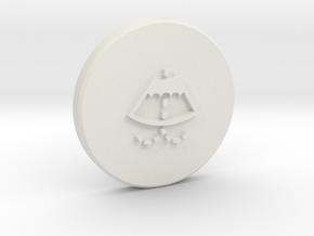 Washer cap with logo Part 2/2 in White Strong & Flexible