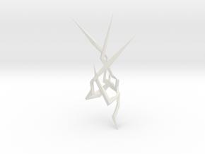 LightSaber Blade Lightning 004 in White Natural Versatile Plastic