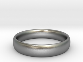 Engagement Band in Raw Silver