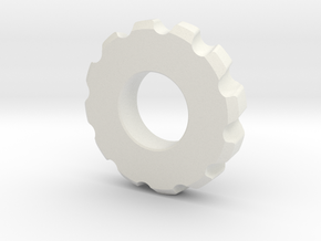 Gear Spinner in White Natural Versatile Plastic