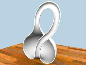 half Klein bottle in White Strong & Flexible