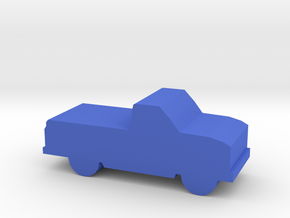Game Piece, Pickup Truck (updated) in Blue Processed Versatile Plastic