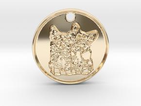 Corgi Clones in 14k Gold Plated Brass