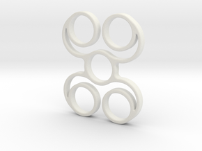Quadspinner V6 (spinner) in White Strong & Flexible