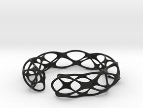 Bracelet voronoi in Black Natural Versatile Plastic