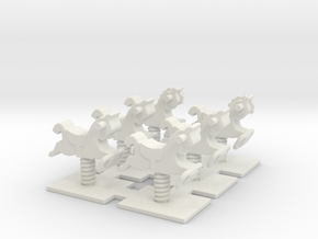 Playground Spring 01. HO Scale (1:87) in White Natural Versatile Plastic
