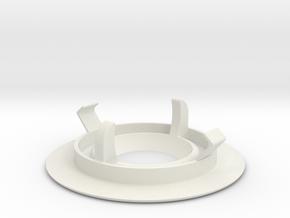 Recessed ceiling mount for Fibaro Motion Sensor in White Natural Versatile Plastic