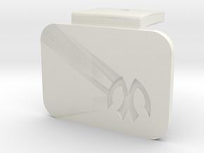 M05 Battery Mount Offset Cap in White Natural Versatile Plastic