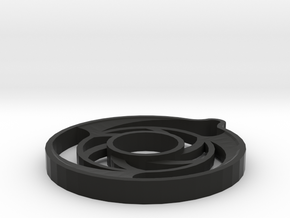 Asher-2-spin Series in Black Natural Versatile Plastic