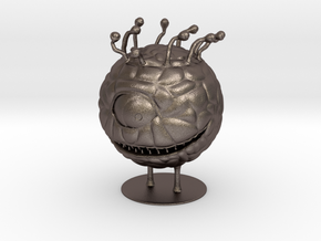 Beholder Miniature in Polished Bronzed Silver Steel: 1:55