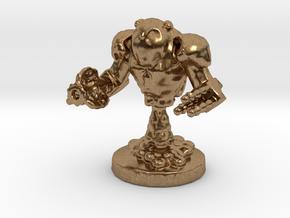 Mech Bot in Natural Brass: Small