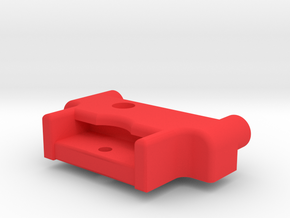 Symmetric M05 Battery Mount (Right Side) in Red Strong & Flexible Polished