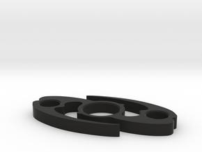 Mata Nui Fidget Spinner in Black Natural Versatile Plastic