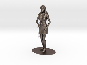 Elven Magic-User Miniature in Polished Bronzed Silver Steel: 1:55