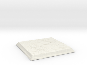 Square Stone Base in White Strong & Flexible