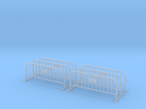 6x PACK 1:50 Small construction fence / Bauzaun in Smooth Fine Detail Plastic