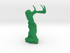 Twisted Tree - Tabletop Prop in Green Strong & Flexible Polished: 1:72