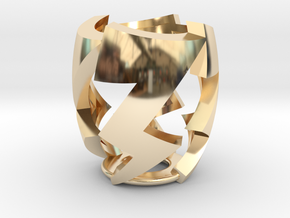 Lightning Bolt in 14k Gold Plated Brass