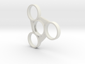 Blade Fidget Spinner (Fits 608ZZ Bearings) in White Natural Versatile Plastic