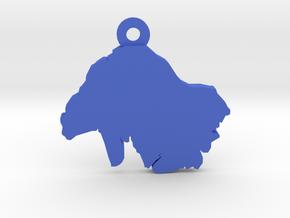 Keyring / Pendant in Blue Processed Versatile Plastic