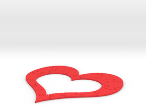 Heart Puzzle in Red Processed Versatile Plastic