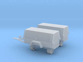 Generator/Compressor (2)Pack 1-87 HO Scale in Smooth Fine Detail Plastic