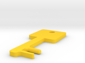 Square Key Shaped SmartPhone Stand in Yellow Strong & Flexible Polished