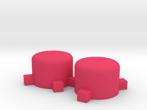 GBP Button 2x in Pink Strong & Flexible Polished