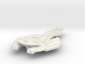 Cardassian Axe Class FastDestroyer in White Natural Versatile Plastic