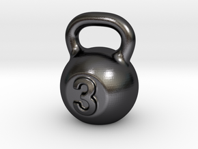 Little Kettlebell For You in Polished and Bronzed Black Steel