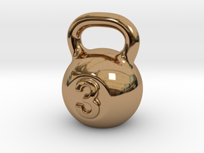 Little Kettlebell For You in Polished Brass