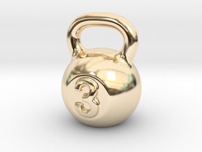 Little Kettlebell For You in 14K Yellow Gold