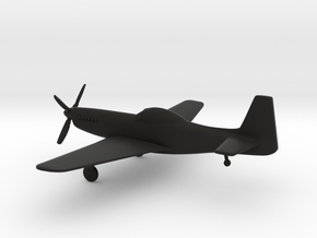 North American P-51H Mustang in Black Natural Versatile Plastic: 1:144