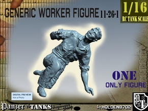 1-16 Generic Worker Figure 11-26-1 in White Natural Versatile Plastic