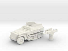 Sd.Kfz 250 vehicle (Germany) 1/100 in White Natural Versatile Plastic