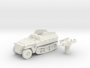 Sd.Kfz 250 vehicle (Germany) 1/87 in White Natural Versatile Plastic