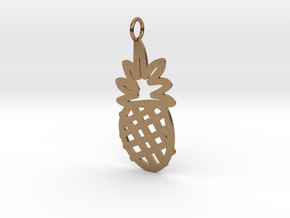 Large Pineapple Charm! in Natural Brass