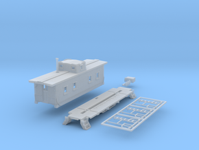 N-Scale NKP 1000-Series Caboose Kit in Smoothest Fine Detail Plastic
