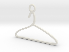 Hanger Charm! in White Natural Versatile Plastic